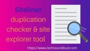 Siteliner content explorer tool
