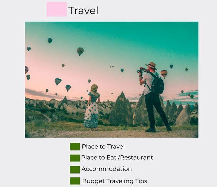 Travel blogging niche