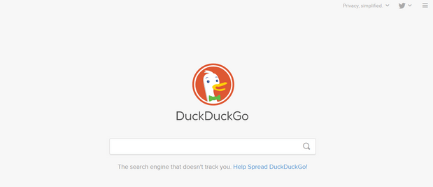 Duck Duck go secure search engine