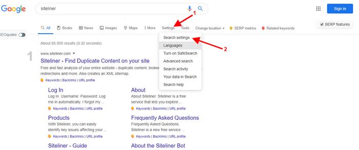 chek ranking for keyword on google