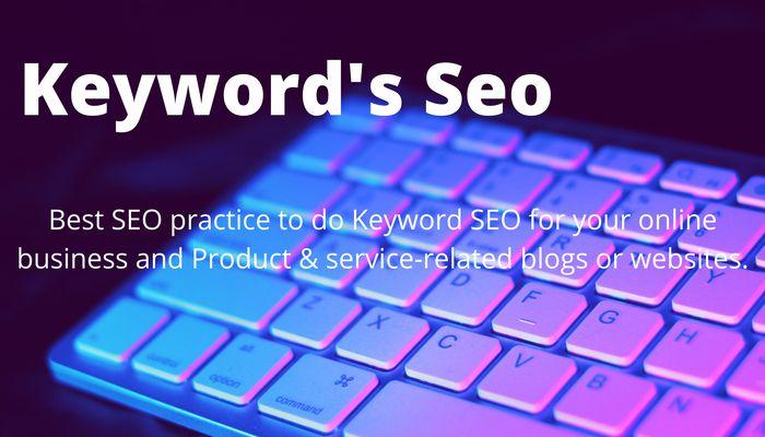 Keyword seo for digital marketing blog