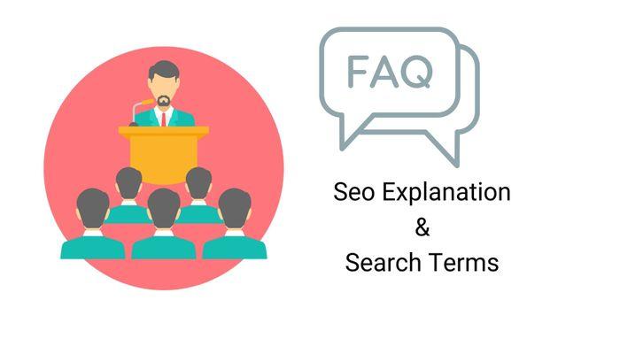 Seo Glossary and seo Faqs